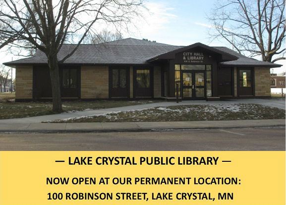 Lake Crystal Public Library Building Entrance